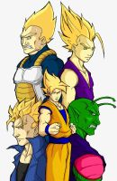 dbz heroes by Anny-D