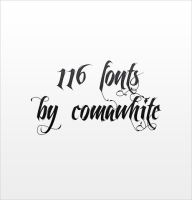 116 fonts by by-comawhite