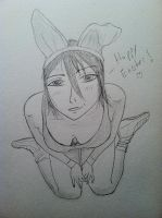 Easter Bunny Rukia by DoomBerry83