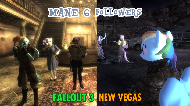 Mane 6 Followers for Fallout by lazyradly