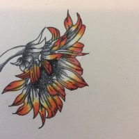 Sunflower Tattoo Design Commission by sharshar27