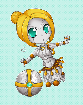 Chibi Orianna - League of Legends by linkitty