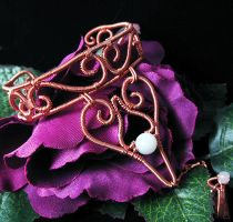 Copper and New Jade Bracelet by sylva