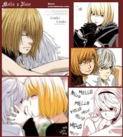 Mello x Near oekakis by KurosakiAkane