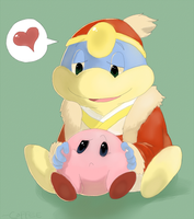 Kirby and Dedede by Anonymoussence