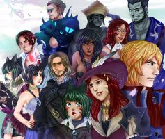 FFXIV - group commission by Amaipetisu
