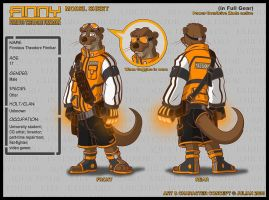 Model Sheet - Finny -Full Gear by mitofox