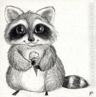 Ice Cream Racoon by socktail