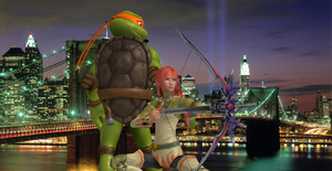 Turtle Titan and White Arrow Render by SilverMoonCrystal