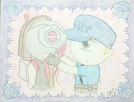 Kabal x Striker - Chibi Love by EseGatoEnElTejado