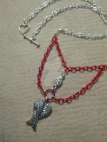 Dangling bloody chains and folded wings 3 by TinkersTreasury