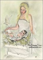 Angel Mother by Katerina-Art
