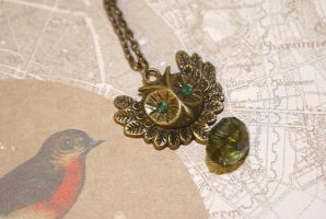 Forest Owl Necklace by foowahu-etsy