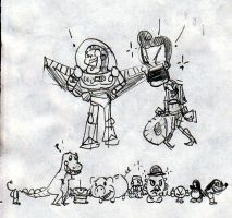 Toy Story Doodle Sheet by after-the-funeral