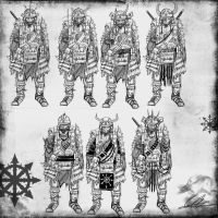 Blood Dusk 1st Infantry Division sketches by Taurus-ChaosLord