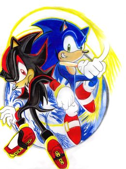 Sonic And Shadow Sonic X by SWIFT-SONIC