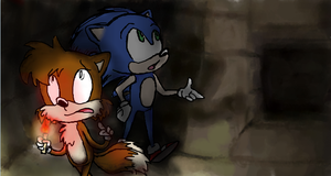 Sonic and Tails, and some minecraft shit by SugarGalaxy