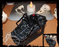 Black Widow Coffin Box by NadilynBeato
