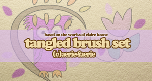 12 Tangled Brushes by Aerie-Faerie