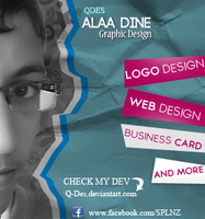 CARD =) QDES@ALAA DINE GRAPHIC DESIGN by Q-des