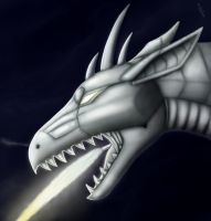 Metal dragon by BullTerrierKa