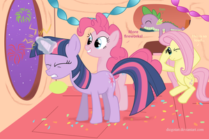 Happy Pony New Year, Party Like Pinkie MLP FiM by DiegoTan