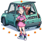 Bulma and her Renault Turbo by thdark