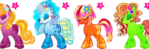 Ponys Batch V Adoptables CLOSED by YukiMiyasawa