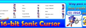 Creating Cursors Test: Sonic the hedgehog (16-bit) by MarkProductions