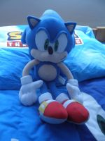 Big Sonic plush by Niko-the-Hedgehog