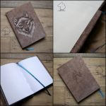 Wolfybook - handmade sketchbook by Dark-Lioncourt