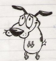 Courage Cowardly Dog Sketch by bad-ass