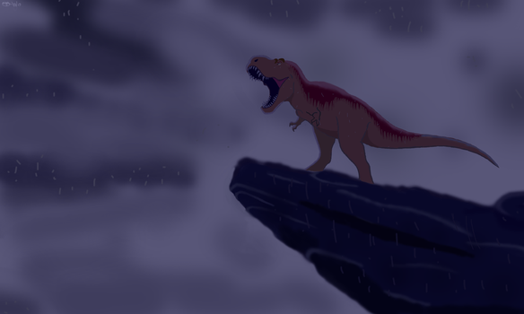 Speedpaint-King of pride rock, cretaceous version. by allotyrannosaurus
