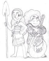 Connie and Steven cosplay sketch by AngeliccMadness