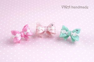 Bowknot rings by virahandmade
