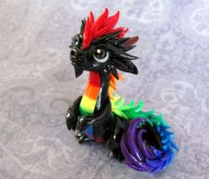Young Rainbow Oriental Dragon - Auction by DragonsAndBeasties