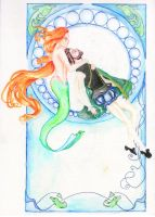 The Little Mermaid Art Nouveau by fireburner543