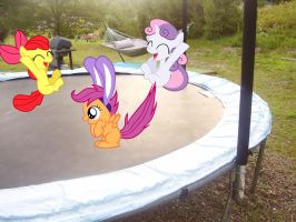 CMC on the Trampoline by Catoz
