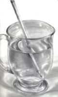 Pencil in a Glass of Water by Erwyingel