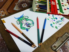 How to use COLOR PENCIL to look like CG by linnil