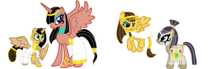 MLP Adopt: Egyptian Ponies -CLOSED- by ChopstickGirl241