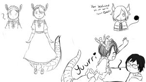 Miss Kobayashis Dragon Maid : Yuri On Ice Au! by SilverSky931