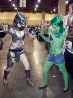 She Hulk and Predator Face Off by CLeigh-Cosplay