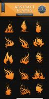 Abstract Flames - Brush Set by VectorMediaGR
