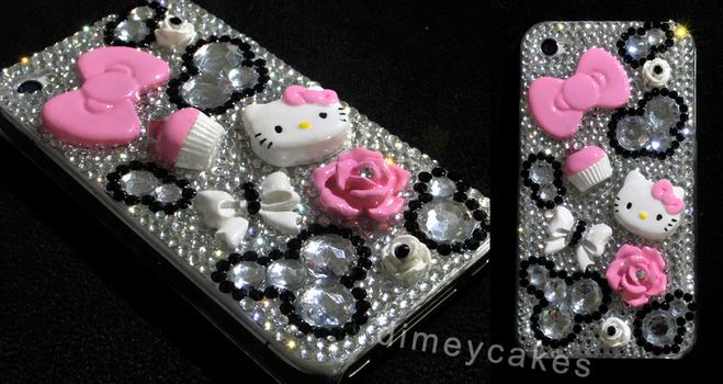 Hello Kitty Themed Decoden by dimeycakes