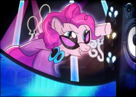 Sinterklaas Suprise: Pinkie Pie as DJ Pon3 by Ilona-the-Sinister