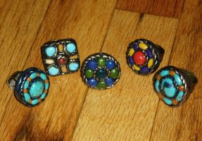 5 colorful rings by Babonga