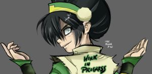 Toph in progress by Radiant-Grey