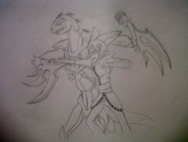 Chavez and Gilaflame :WIP: by ThunderStormZero