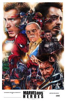 Marvelous Heroes Limited Exclusive Poster by Glebe by Twynsunz